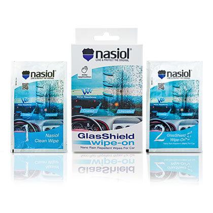 Nasiol glasshield wipe on